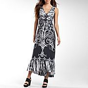Unity World Wear® Hi-Lo Hem Printed Maxi Dress