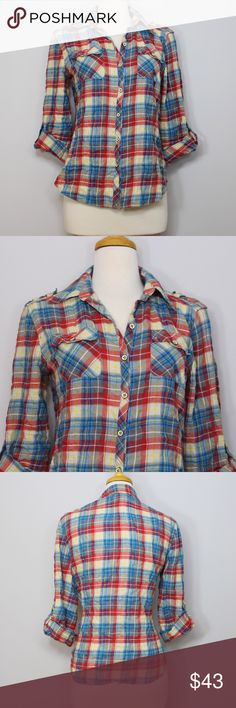 Postmark (Anthro) Fairweather Plaid Button-Down Measurements and description to be added. Anthropologie Tops Button Down Shirts