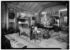 """14 Famous Man Caves - """"There ought to be a room in this house to swear in. It's dangerous to have to repress an emotion like that…Under certain circumstances, profanity provides a relief denied even to prayer."""" - Mark Twain on his billiards room."""