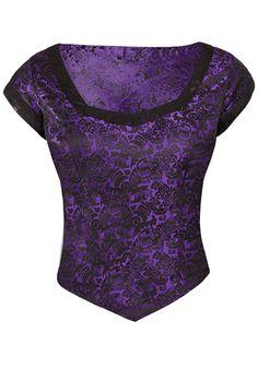 Betty's Revenge Brocade Purple Top - The Violet Vixen