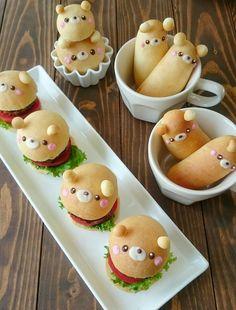 Japanese Food Art, Japanese Snacks, Cafeteria Retro, Kawaii Cooking, Cute Baking, Cute Bento, Good Food, Yummy Food, Cute Desserts