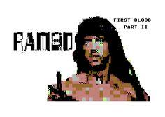 Rambo PETSCII by Enthusi / Onslaught