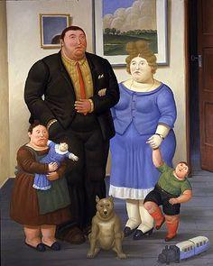 Une Famille (2006) - Fernando Botero - #art