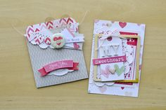 I Love You Library Pocket - Crate Paper Love Notes; Sweetheart - design and tutorial by Rebecca Luminarias