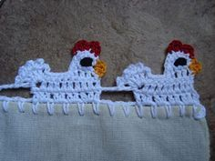 Little Hen Lace :: Free #Crochet Edging Patterns!  This is hilarious!  But wouldn't it look cute on a dishcloth!