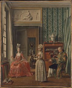 Domestic Scene, unknown German painter, oil on canvas, c. 1775-80. Metropolitan Museum of Art accession no. 1971.115.6