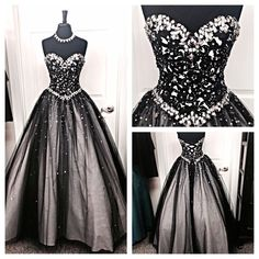 Black White Tulle Long Evening Prom Gowns,Sweetheart Beaded Bodice Quinceanera Dresses For Teens Juniors Dress,Prom Graduation Dresses