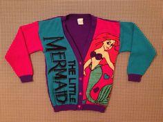 1989 The Little Mermaid cardigan sweater