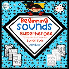 Beginning Sounds Superheroes, Trace, Color, Color by Code, Cut & Paste! Learning For Life, Learning Resources, Kindergarten Reading, Kindergarten Activities, School Reviews, Letter Identification, Superhero Kids, Beginning Sounds, First Grade Reading