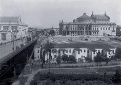 SP - Anhangabau com Teatro S. Jose e Teatro Municipal - dec. 1910