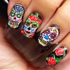 Top 40 Spooktacular Halloween Nail Art Ideas For This Year - Nail Polish Addicted Mauve Nails, Gelish Nails, Neutral Nails, Burgendy Nails, Oxblood Nails, Magenta Nails, Nails Turquoise, Get Nails, Fancy Nails