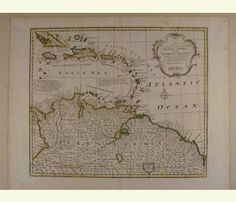 A New and Accurate Map of Terra Firma and the Caribbe Islands. 1752