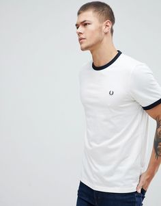 dcd819ee0 Fred Perry ringer t-shirt in white