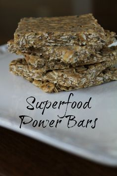 Superfood Power Bars Recipe on Having Fun Saving and Cooking.  This Superfood Power Bar Recipe involves no baking and only about 10 minutes to make about 25 bars.