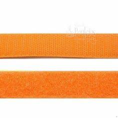 Velcro para coser de color naranja