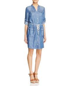 MICHAEL Michael Kors Denim Shirt Dress | Bloomingdale's