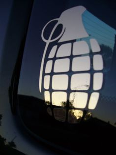 "4/"" Army Grenade in Chrome Vinyl Decal Car Truck Jeep Window Sticker"