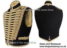 Adam Ant Waistcoat - Gilt Braid Professional Military Jacket