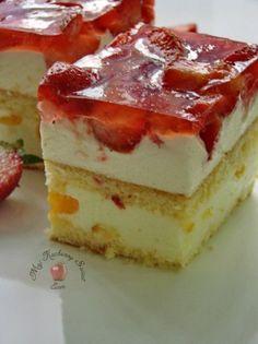 Ciasto z truskawkami - Mój kuchenny Świat Flan, Kitchen World, Polish Recipes, Cookie Desserts, Cake Cookies, Cheesecake, Cooking Recipes, Easy Recipes, Strawberry