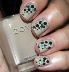 Zoya Dot Mani with Farah, Bevin, Evvie & Noot.  www.vampyvarnish.com