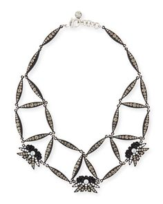 Larkspur Crystal Web Necklace, Black by Lulu Frost at Neiman Marcus.