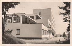 Sanatorium pro choroby vnitřní a nervové, Dobříš (Sanatorium for Internal and… Functionalism, International Style, Modernism, Arches, Modern Architecture, Mansions, House Styles, Photography, Home