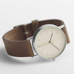 minimalistic brown watch