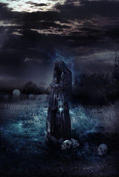Memento Mori by halaquinn-arcadias on DeviantArt Death Reaper, Grim Reaper Art, Freund Hein, Reaper Drawing, Reaper Tattoo, Gothic Fantasy Art, Bild Tattoos, Arte Obscura, Demon Art