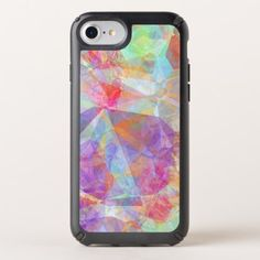 Colorful Funky Retro Cool Polygon Mosaic Pattern Speck iPhone Case - diy cyo personalize design idea new special custom