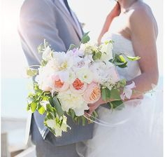 Fluid, asymmetrical bouquets are beautiful and different.