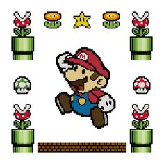 Super Mario Cross Stitch Pattern von chellystitches auf Etsy