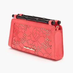 Layla Laser Cut Handbag In Coral / by Elaine Turner