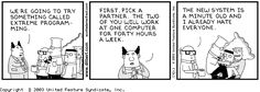 Dilbert on Extreme and Agile Programming