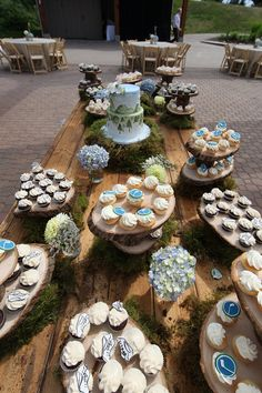A mountain of wedding goodies - outdoor reception at Grouse Mountain