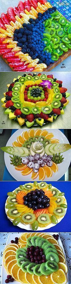 Kick your holiday fruit platters up a notch! These would be so easy to make, and a nice change from those boring platters sold in grocery store delis. If you make your own you can make it more attractive and customized with the fruit you love to eat.