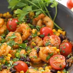 This easy Mexican Shrimp Skillet is so easy and delicious! Only can find Slender kitchen and more on our website.This easy Mexican . Weight Watchers Shrimp, Weight Watchers Meal Plans, Weight Watchers Snacks, Weight Watcher Dinners, Ww Recipes, Seafood Recipes, Healthy Dinner Recipes, Mexican Food Recipes, Cooking Recipes