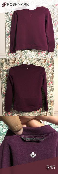 Lululemon Magenta Cotton/Neoprene Crewneck Sweater Lululemon Magenta Cotton/Neoprene Crewneck Sweater. The sweater has no tags. It's a size medium. lululemon athletica Sweaters Crew & Scoop Necks