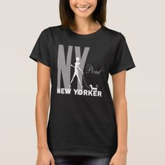 Proud New Yorker funny one-of-a-kind black T-Shirt - animal gift ideas animals and pets diy customize