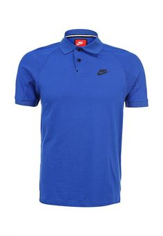 Поло Nike / Найк мужское. Цвет: синий. Сезон: Весна-лето 2014. С бесплатной доставкой и примеркой на Lamoda. http://j.mp/1o8l67G