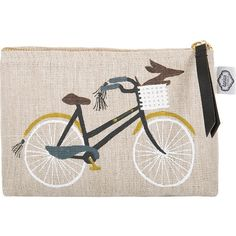 danica studio Bicicletta Cosmetic Bag - Small (3125 RSD) ❤ liked on Polyvore featuring beauty products, beauty accessories, bags & cases, neutral, makeup bag case, purse makeup bag, travel kit, makeup purse and cosmetic bag