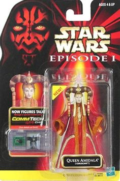 STAR WARS : Costumes and Toys : Star Wars Action Figure - Queen Amidala Coruscant - Episode 1 - with CommTech Chip
