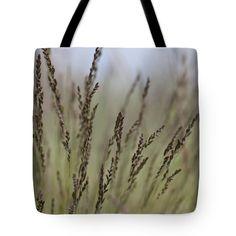 "Artful dance of shoreline grasses Tote Bag 18"" x 18"""