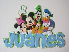 Nombre con aplique de Mickey Mouse y sus amigos