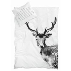 Køb det lækre sengetøj fra By Nord i Øko-tex certificeret bomuld - Med fotoprint af dådyr