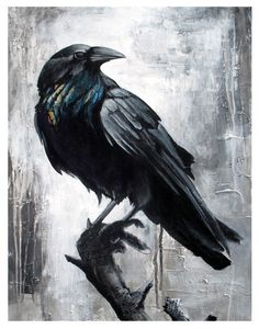 The Guardian - 8x10 Raven print by Linzy Arnott