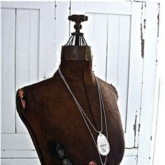 Made To Order   Distressed Silver Necklace by rescuedjunk on Etsy, $24.00