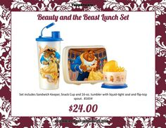 Tupperware Beauty and the Beast Lunch Set