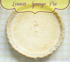 Flour On My Face | The Vintage Recipe Project: Lemon Sponge Pie | http://www.flouronmyface.com