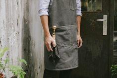 Barista apron A105/ Chelsea gray/ handmade by patricksworkshop