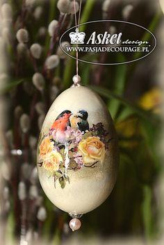 hand made - ręcznie wykonane malowanie dekorowane jajka